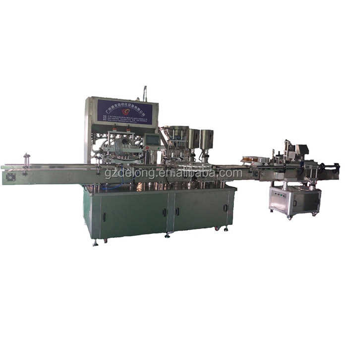 Automatic,Liquid, Aerosol Paste Vial Bottle Tube Filling Capping labeling Packing Machine