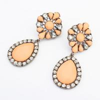 Cute Water Drop Fashion Design Hanging Crystal Avenue Modern Earrings