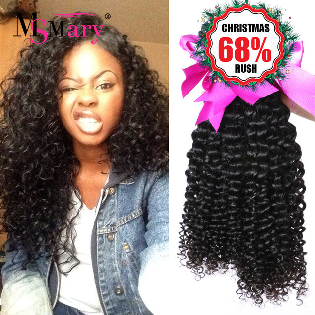 Malaysian Deep Wave 4 Bundles Grade 7A Curly Weave Human Hair 10-28, Natural color