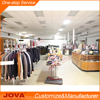 Wooden clothes rack shop fittings for vintage clothing stores