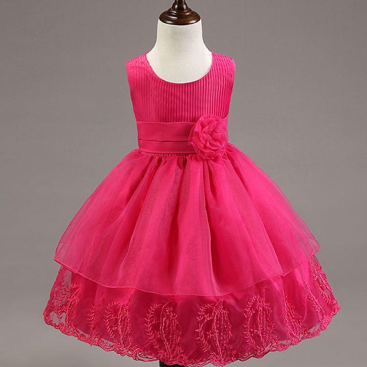 514cafd3d Barato por atacado pouco pageant vestidos adolescente colorido tutu vestido  da menina de moda infantil desgaste