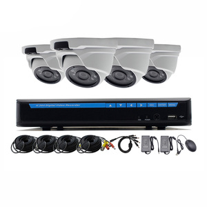 1080P CCTV Surveillance Combo Security Dome Camera 4 Channel DVR Kit