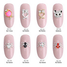 Art Designs Customer's Requirement 3d Nail Art Designs Popular Cute 3D Metal Gold Sea Horse And Goldfish Nail Art Designs Animal Style Nail Art Decoration