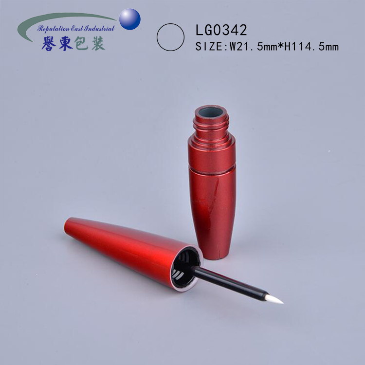 Best quality plastic round red empty liquid cosmetic eyeliner tube