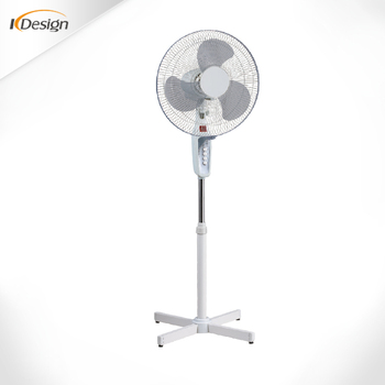 White Good Quality Household Inside Pedestal Fan Rotating Ful Wind Cross Base Fans Forbedroom