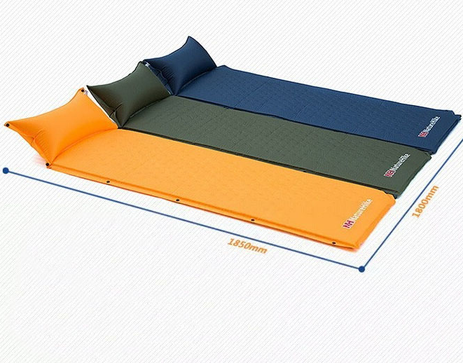 pillow camping mattress built inflatable intex fabric ip with in