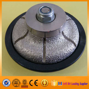 Bullnose vacuum brazed granite edge profile wheel diamond grinding wheel for stone