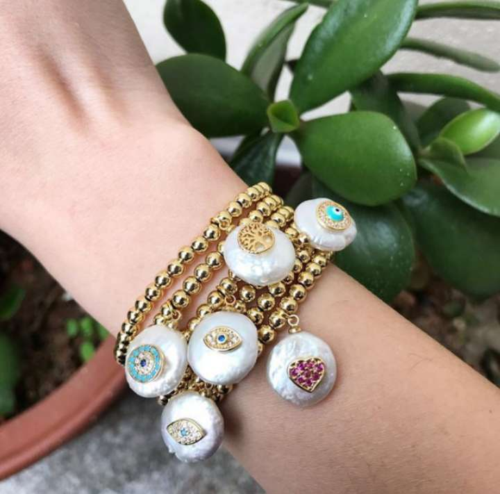 XY-CM1313 공장 wholesale 2019 fashion jewelry 펄 bracelet