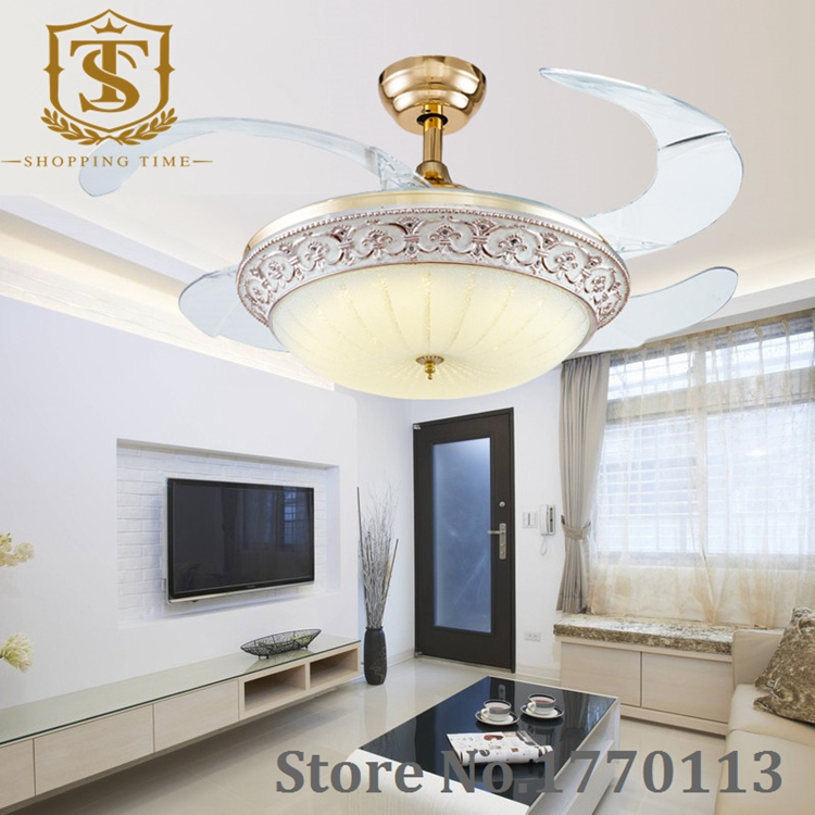 Modern 42 inches ceiling fan with led light 4 invisible - Best ceiling fan with light for bedroom ...