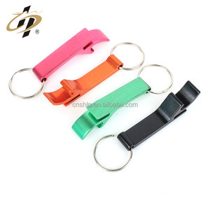 Creative design custom made metal colorful mini keychain wine beer bottle opener for sale