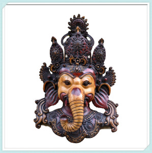 Tibet elephant god lord ganesh wall hanging sculpture