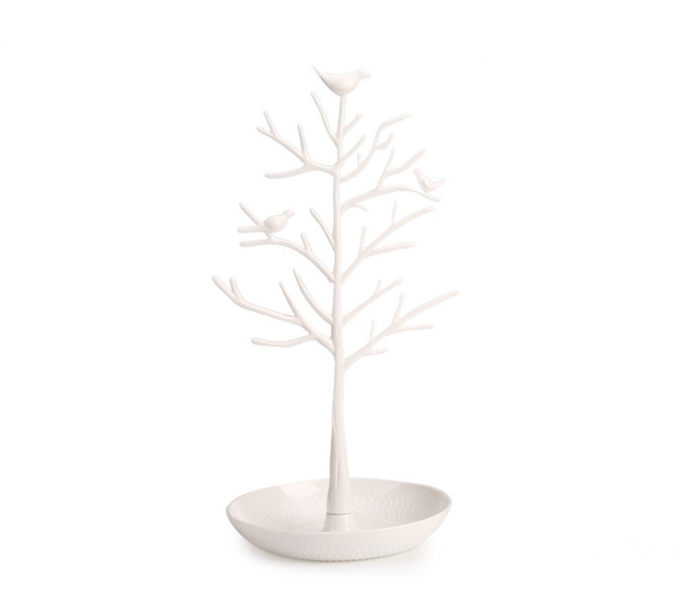 Angl Lee Jewelry Display Tower,Bracelet Holder Jewelry Rack Necklace Rack for Home Use ABS Material Tree (white)