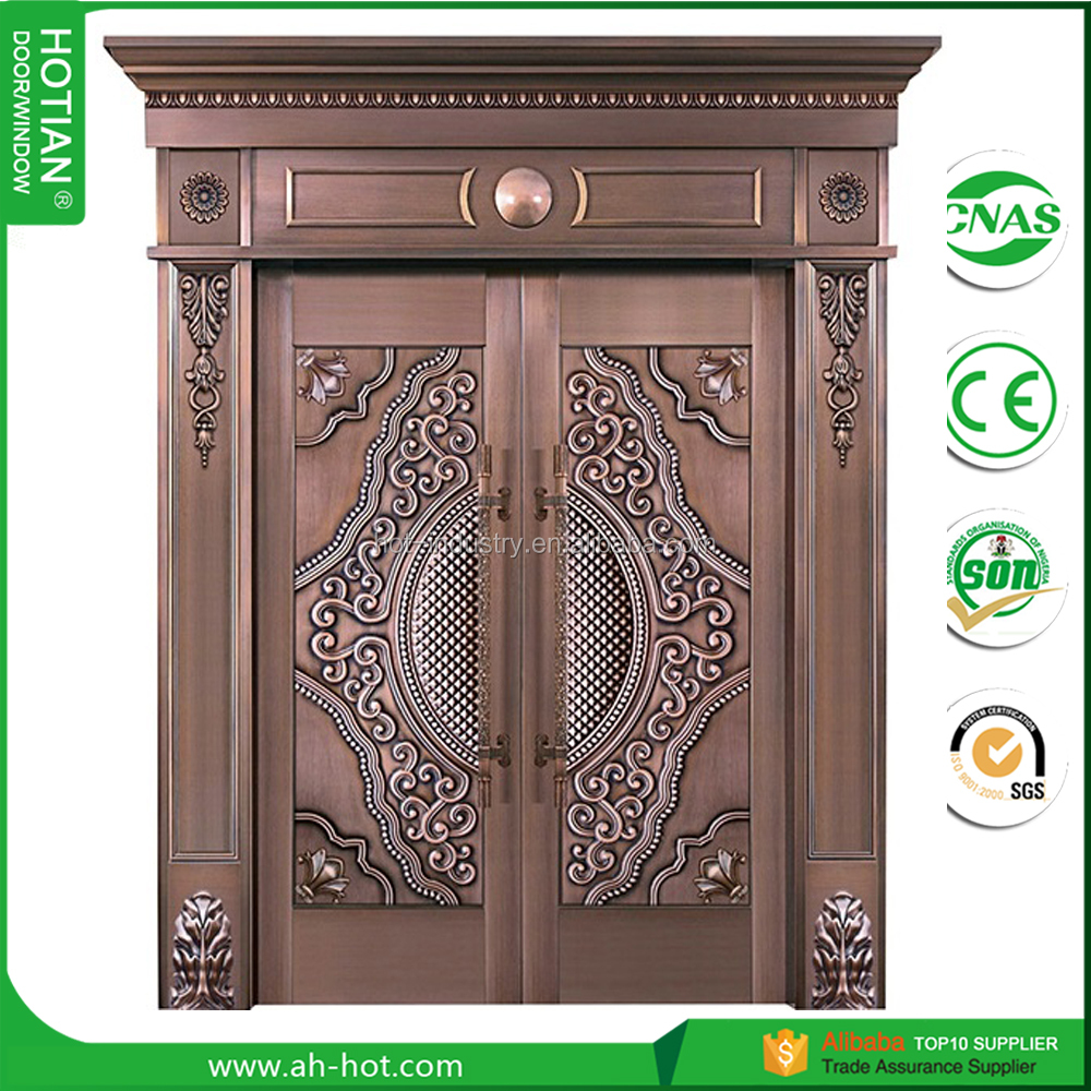 2016 New Design Bronz Exterior Door Villa Copper Entry Door Main Door