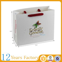 white logo printed paper jewelry packing bag