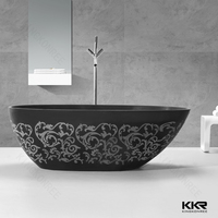 Custom size square decorative marble bath tub