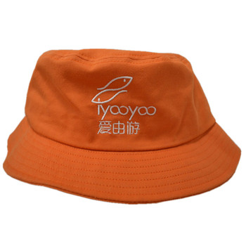 5a10c0b6ac34f Supplier Of Fishing Hats Caps Cotton Orange Bucket Cap With Embroidery Logo  Cheap Promotional Bucket Hat