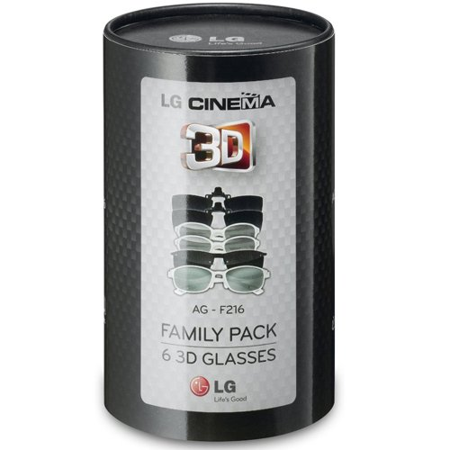 LG AG-F216 Cinema 3D Glasses Family Pack (6-Pairs) for 2011 and Up