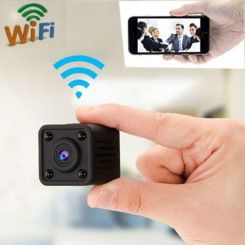 1080P Mini WiFi Camera Cube Car DVR Wireless P2P IP Network Video Surveillance Night Vision Motion Detection Home Security Alarm, Black