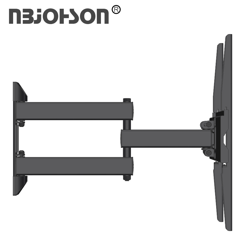 Full Motion Metal Black Swivel  tilt rotationTV Wall Mount Heavy Duty TV Wall Brackets