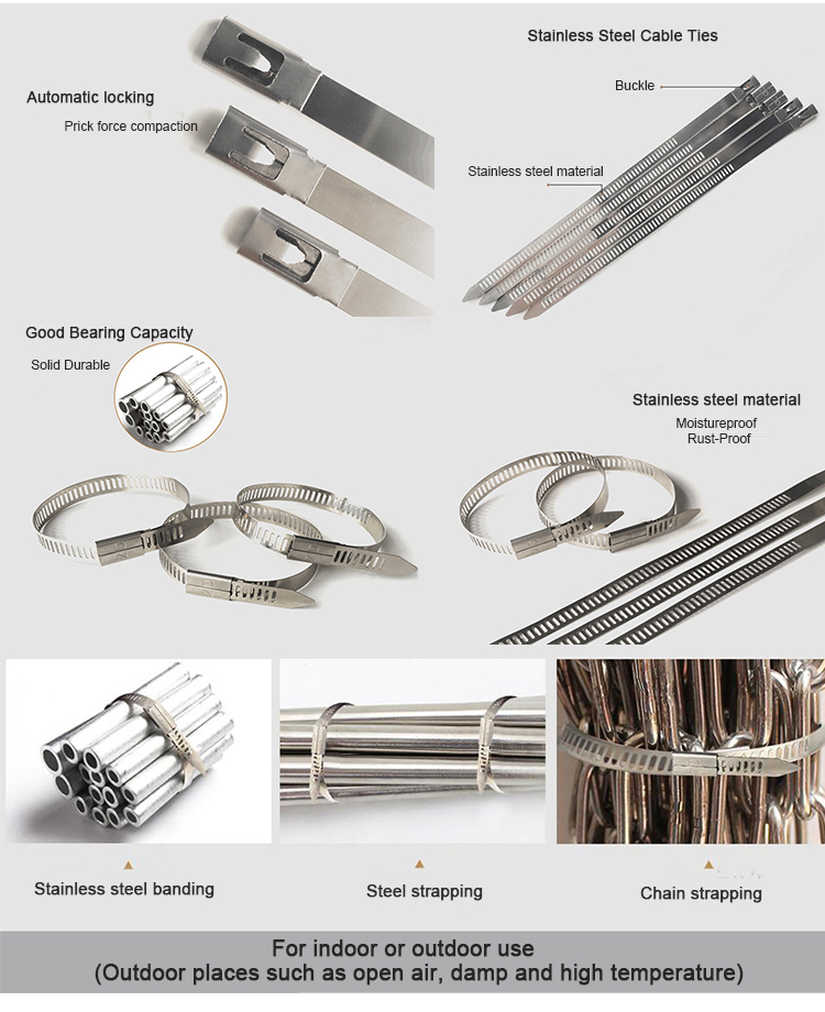 Ball Lock Stainless Steel Cable Ties