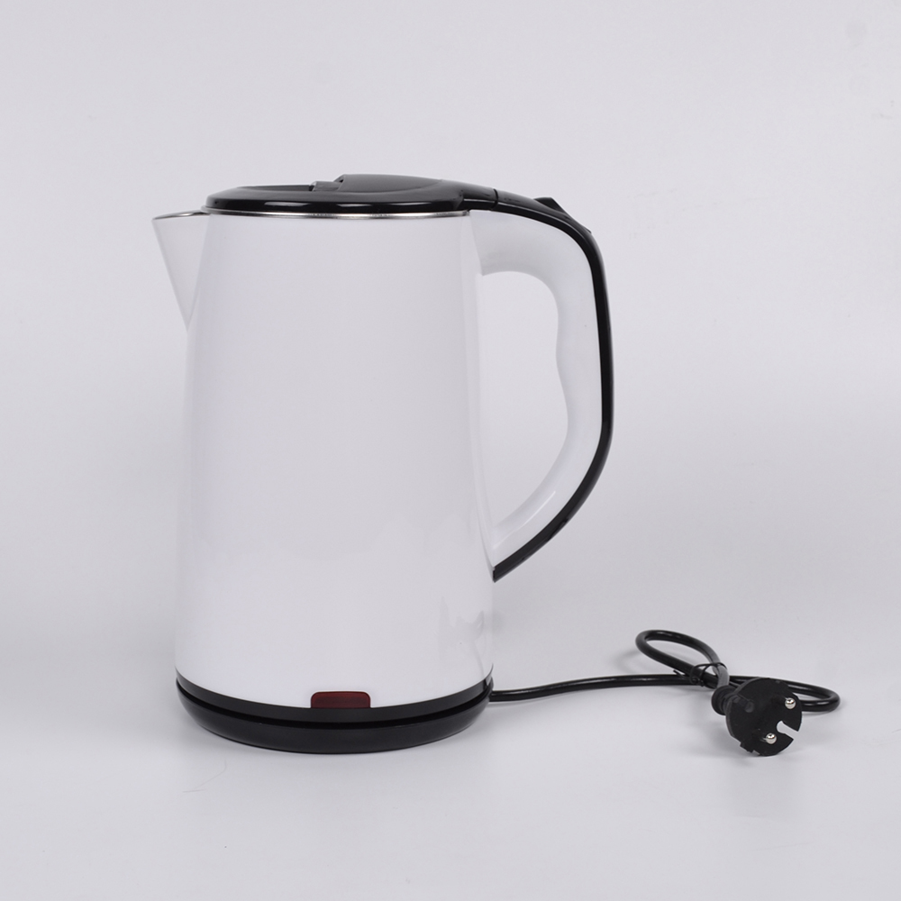 White Color Non Electric Chinese Tea Stainless Steel Kettle With Plastic Cool Touch Cover