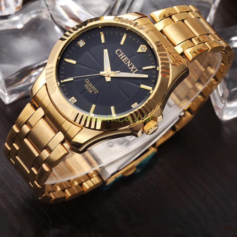 ᗐNATATE CHENXI Clock Gold Ξ Fashion Fashion Men Watch Full ...