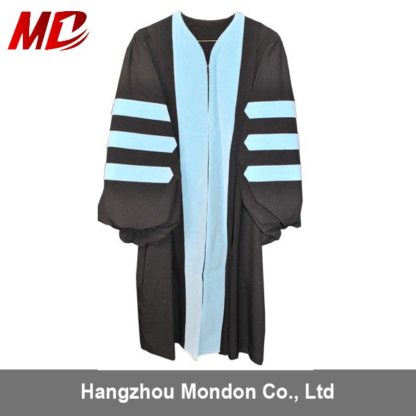 Custom university Doctoral Graduation Robes with Hood Tam