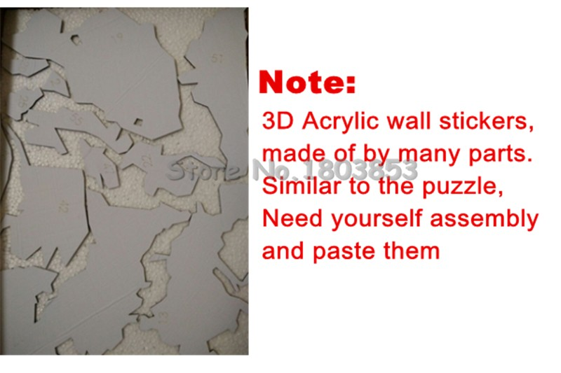 Zebra 3d Stereo Acrylic Crystal Hallway Wall Stickers Living Room