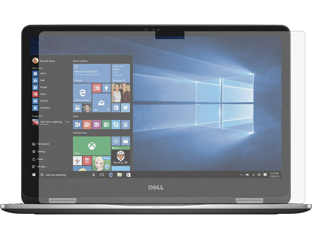 """PcProfessional Screen Protector (Set of 2) for Dell Inspiron 17 7778 17.3"""" Touch Screen Laptop High Clarity Anti Scratch"""