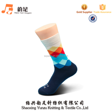 New Fashion Men 100 Cotton Colorful Argyle Socks