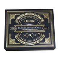 Finest Magnetic Closure Matte Wood Box Wooden Black Cigar Box