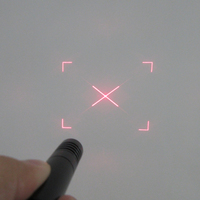 FU650CFKCHA100-GD16-30 Diffractive optical elements(DOE) Non-closed rectangle diagonal pattern laser with adjustable focus