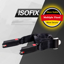 New General ISOFIX interface Carmind Black Secured Fit Child Adult Parts Protecting Adjuster Toddlers Car Safety Seat Belt Kids