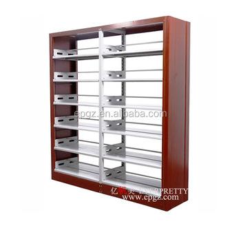 Popular School Library Furniture Wooden Steel Bookshelf Of Customize Dimensions