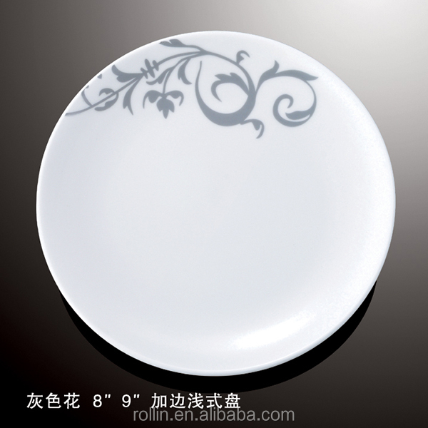 latest fashinable underglazed floral handpainting personalized porcelain <strong>plate</strong>
