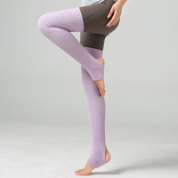 75CM wool yoga warm Latin leg protector lengthening step over the knee pile socks Adult ballet dance socks