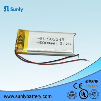 Wholesale polymer lithium ion battery 502248 602248 lithium battery 3.7v 600mAh