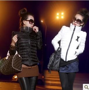 D0130 зима короткая пальто женщины женское воротник-хомут короткая вниз куртка женщины приталенный пальто