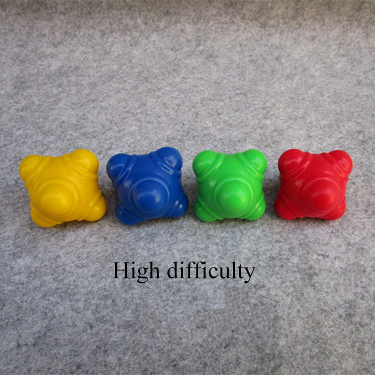 Hexagonal silicone reaction ball sensitive rebound ball agility training speed change ball