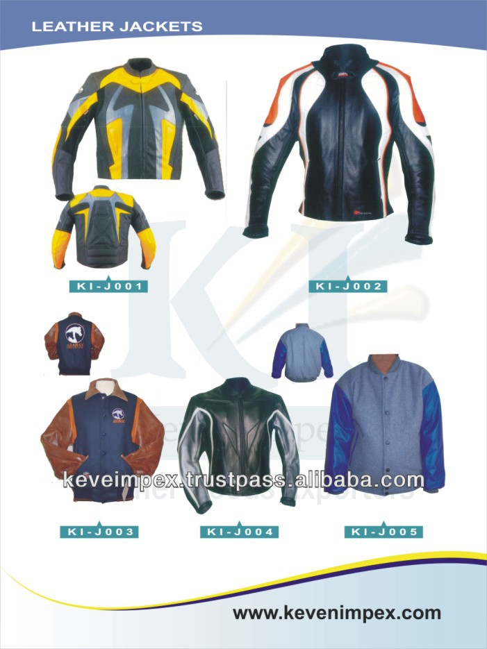 Top quality Leather & Textile Garments Western jacket Leather and wool jacket Motorbike jacket 2017