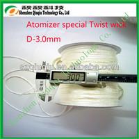2014 best quality 3mm glass fiber wick /silica wick with low price