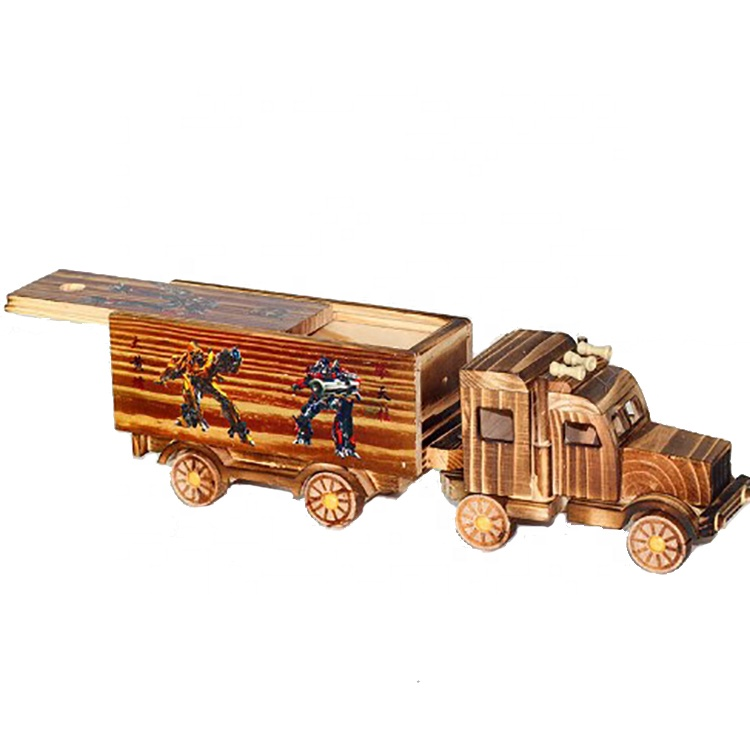 2018 China new product transformers toy wooden truck <strong>craft</strong>,wood model handmade <strong>craft</strong> toy