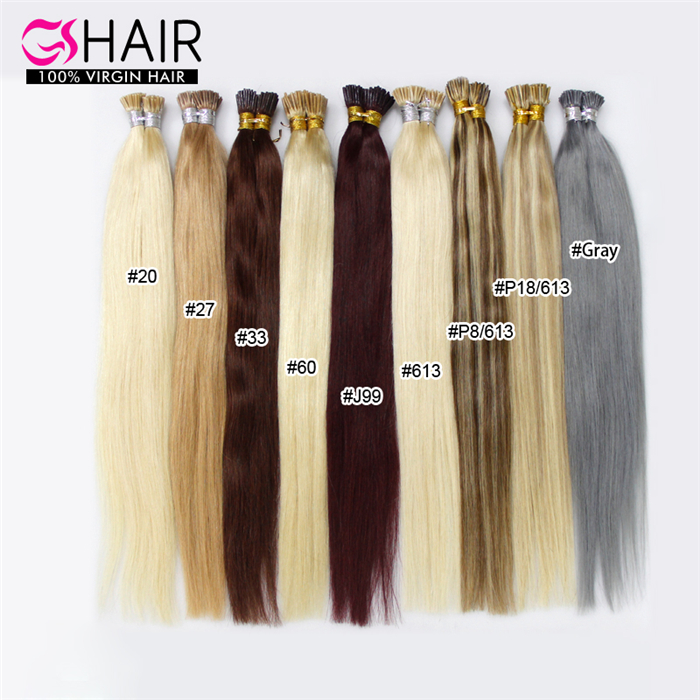 different color glitter 10-30 inch i tip hair extensions