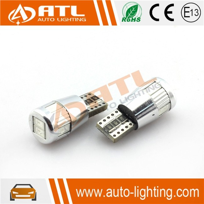 Long life time 6SMD/10SMD power led bulb for car, 12V lens high power led,CANBUS B/R/Y/G:available power led bulb