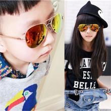 New Girls Boys Metal Frame Mirror Lens Sunglasses Square Eyeglasses Eyewear For Kids PY6 L4