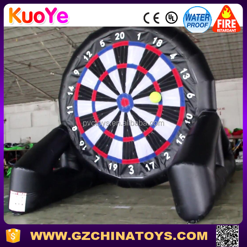 Best quality giant soccer board inflatable dart for sale