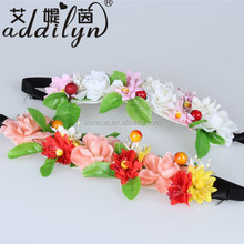 custom fresh natural artificial flower headbands with daisy