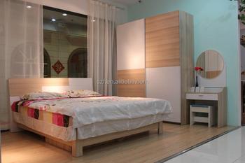 China Manufacturer Modern 3 Piece Bedroom Furniture Set Wardrobe