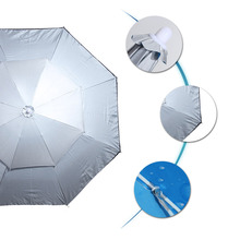 Fabriek Uv-bestendig Folding Solar Outdoor Grote Parasol 6*6M Beige Kleur <span class=keywords><strong>Chinese</strong></span> Tuin Parasol