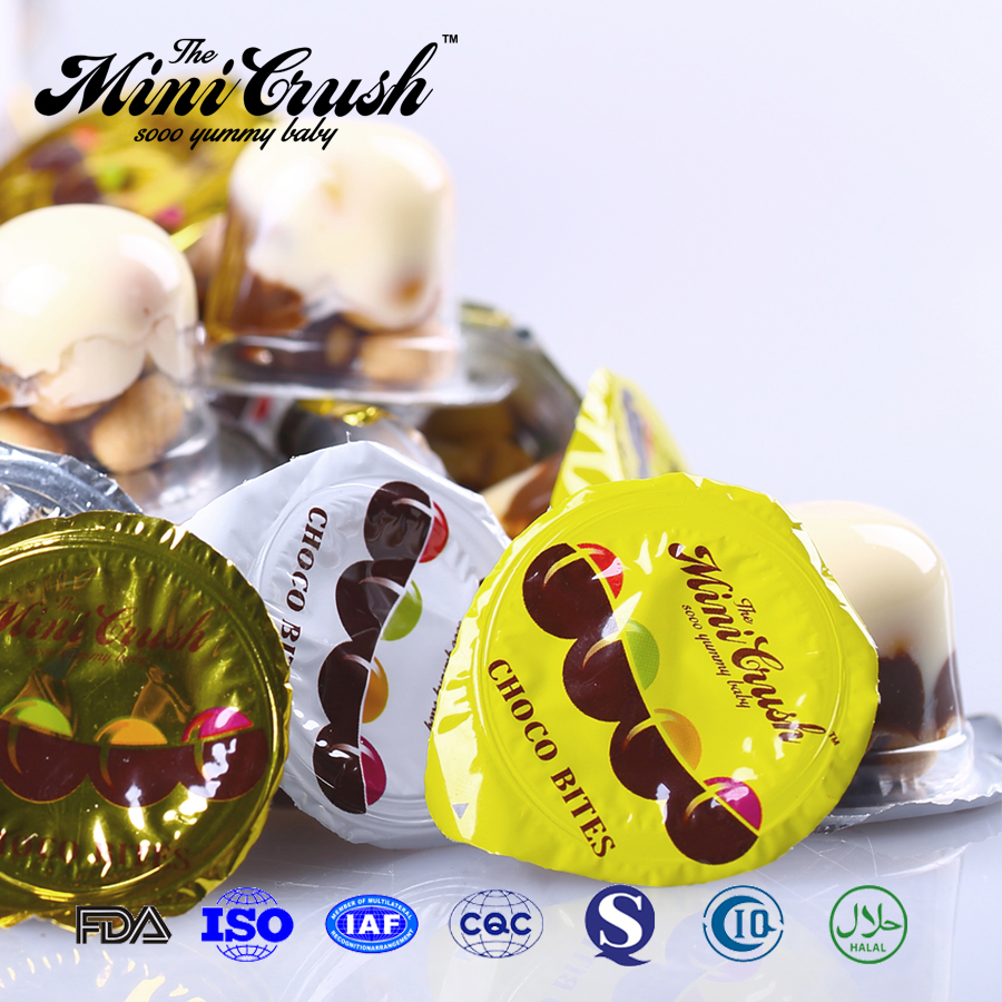 Hot sale in market chocolate with biscuit cup candy